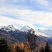 Les Giettes : panorama sur le Val d'Anniviers.