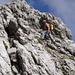 Reinhard im typisch schrofigem Karwendelgelände