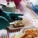 Antipasto con tartine al gorgonzola