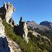 Bizarre Felsformationen unterhalb von Il Lajet.