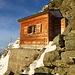 Ankunft bei der scheinbar leeren Solvyhütte...(Foto vom 14.9.2014)