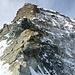 Umkehr auf der Schulter auf ca. 4200m, darüber der Schultergrat und der Abschnitt mit den Fixseilen, wofür man zusammen mit dem Gipfeldach noch mindestens 1h rechnen muss (Foto vom 14.9.2014)