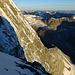 Tiefblick in die Matterhorn N-Wand (Zmuttnase) und zum Zmuttgrat. Am Horizont rechts Les Diablerets, links die Dents du Midi
