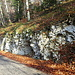 Steinstrukturen am Wegesrand