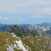 Blick nach Norden zu Breithorn und Zitterklapfen. Am Horizont die Damülser Berge.