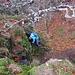 Auf dem nassen Fels war Vorsicht angesagt