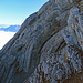 schöne Felsstrukturen am Felsen vom Margelchopf
