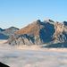 auch die Alp Gamplüt ist unter dem Nebel gefangen.