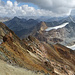 Links Vadret Calderas, rechts Vadret d'Agnel und im Mitten, der Gletscher unterhalb Piz Surgonda.