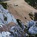Sieht recht alpin aus, der Tiefblick vom Lacherspitz