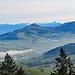 über Appenzell bildet sich wieder Nebel