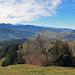 Blick nach Westen zu den Glarner Bergen