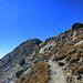 """... steigt man anschließend über Block und Fels zum nächsten Gipfel hoch. Lt. Gipfelbuch soll es sich dabei um das """"Wannejöchl"""" handeln."""