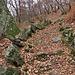 Il sentiero è a tyratti delimitato da pietre.