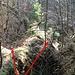 PD František, Bruchgraben mit Teilung des Gangverlaufes, rechts der Hauptgang, links etwa noch 250-300 m lang