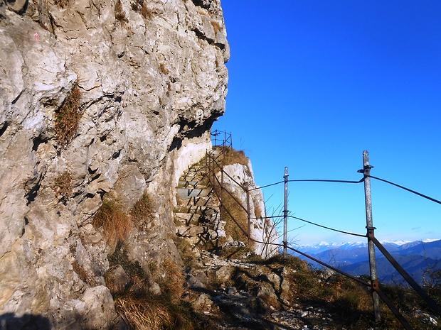 Il tratto di sentiero più bello delle Alpi.