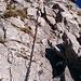 Südseitig exponierte Kletterstellen sind schön eisfrei.