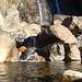 Am Fuss des Wasserfalls am Rio Val Cornera.