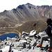 Blick in den Krater, mit dem Pico de Fraile, gesehen von einem Nebengipfel (Humboldt) den wir am nächsten Tag noch schnell bestiegen