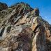 Rückblick auf eine steilere Stelle am NE-Grat