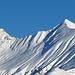 der Girenspitz im Zoom, Skispuren hat es noch keine auf den Gipfel, es wäre Heute ein  wenig heikel auf diesen Berg zu steigen.