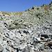 Geröllfeld unterhalb Bocchetta Foglia 2419m, Übergang Italien-Schweiz