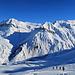 Rückblick zur Alp Säss und dem Schollberg