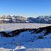rechts ein Teil der Alvierkette, im Vordergrund die Gondelbahn von der Tannenbodenalp.