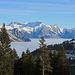 Blick über das Nebelmeer hinüber nach Liechtenstein und Vorarlberg