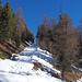Auch in Chandolin auf rund 2000 m hat es nur eine dünne Schneedecke