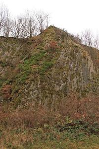 Basaltsäulen im Wilischkrater