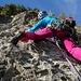 Tanja in der steilen 2. SL