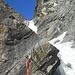 la simpatica sosta sul sassone in mezzo alla cascata