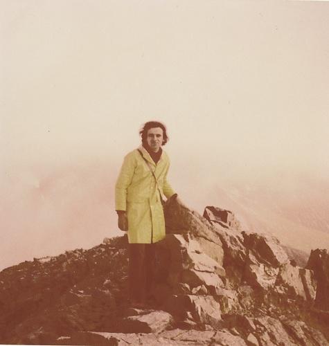auf dem Gipfel bei leichtem Nieselregen...