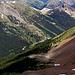 In der Nähe des Gipfelkamms, man beachte das Marmot