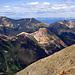 Fast am Gipfel. Der Rote heißt bezeichnenderweise Red Mountain