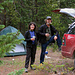Roadside camping, american style, auf der Huron Access Road