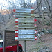 Segnaletica escursionistica alle Fonti di Gajum.