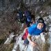 Sentiero GER passaggino da arrampicare con catena