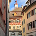 Erster Blick in die Altstadt von Stein am Rhein