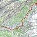 Unsere Route im Rheintal