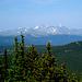 Grays Peak und Torreys Peak, weit weg. Die zwei werden eigentlich immer zusammen bestiegen