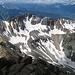 Blick auf Blue Lake Pass. Von dem soll man auch direkt aufsteigen können, etwas schwieriger als die Normalroute