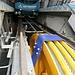 """kräftig motorisiert - und schnell, die [http://standseilbahnen.ch/zermatt-sunnegga.html """"Untergrundbahn""""] nach Sunnegga"""