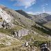Im Abstieg vom Monte Camicia - Links ist der Weg zu erahnen.