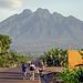 Sabinyo - der vierthöchste der fünf rwandesischen Virunga Vulkane. Das Headquarter der Nationalpark-Verwaltung liegt am Fuß des Berges.