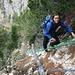 steiler Abstieg vom Monte Cuc