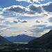 Blick über die Magadinoebene, den Lago Maggiore zum Gridone.