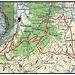 """Karte mit unserer Skiroute auf den Twäriberg (2117m). Die Skischwierigkeit des Gipfelhangens beträgt  """"ZS""""."""