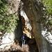 der angelehnte Fels bei der Grotta del Sanguineto